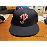 black PHILADELPHIA PHILLIES New Era 59/50 BASEBALL CAP/HAT 7 1/2 cooperstown col