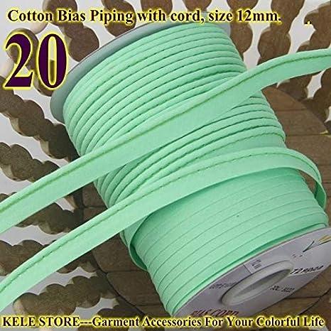 Ochoos - Cinta al bies de 100% algodón, cinta al bies con cordón, tamaño: 12 mm, para hacer manualidades, costura, ropa de cama, cinta de tela: Amazon.es: Juguetes y juegos