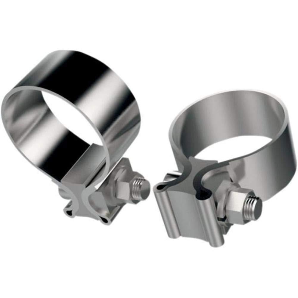 "Khrome Werks 1.25"" Wide Stainless Steel Muffler Clamps for Mufflers on 1.75"" Headers 203030"