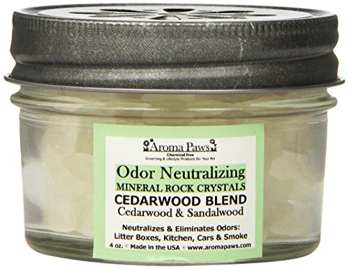Aroma Paws Odor Neutralizing Rock Crystals, 4-Ounce, Cedarwood - Extreme Odor Control