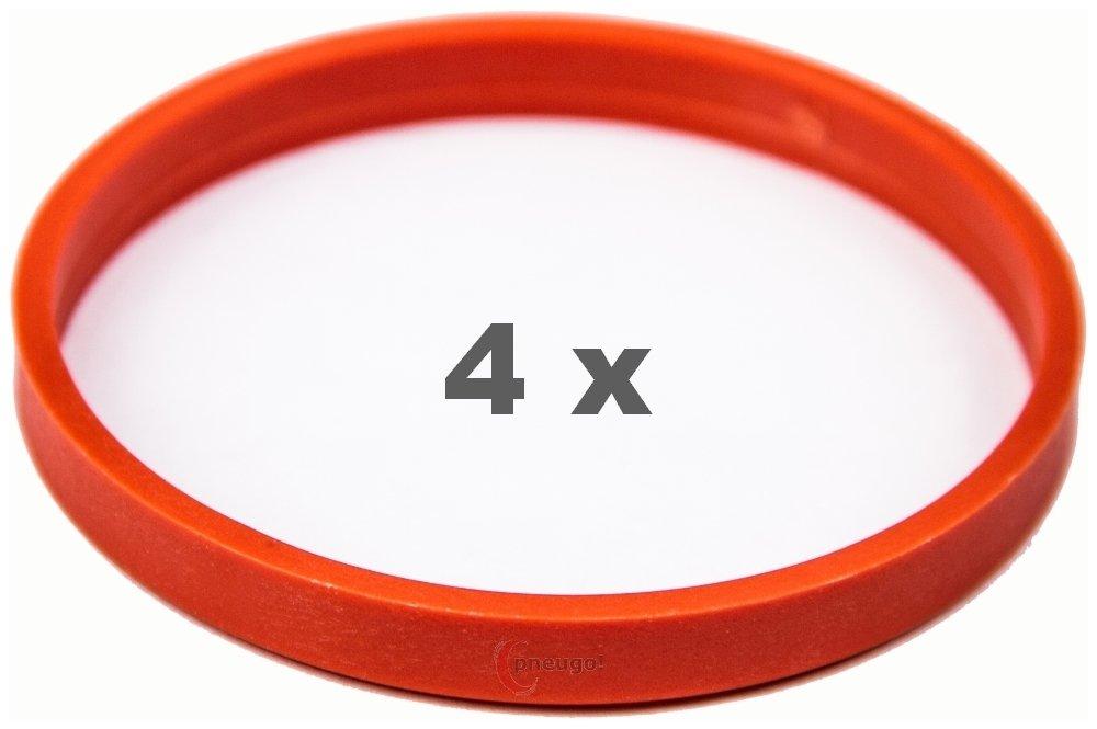 4/x Bague de Centrage 72.0/sur 66.6/Orange