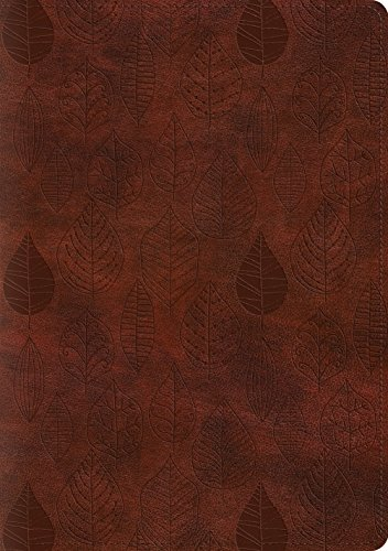 ESV Single Column Journaling Bible, Large Print (TruTone, Chestnut, Leaves Design)