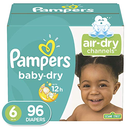 Diapers Size 6, 96 Count - Pampers Baby Dry Disposable Baby Diapers, Giant Pack
