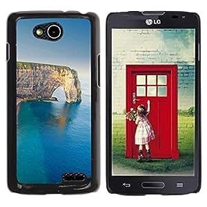 Be Good Phone Accessory // Dura Cáscara cubierta Protectora Caso Carcasa Funda de Protección para LG OPTIMUS L90 / D415 // Cliff Sea Summer Nature Geology