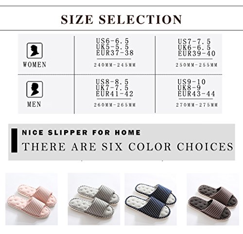 Foam Blue Memory Navy Cotton House Cozy Indoor Women Men Slippers Flax Casual Massage Asifn Home House IZ4xqwRx