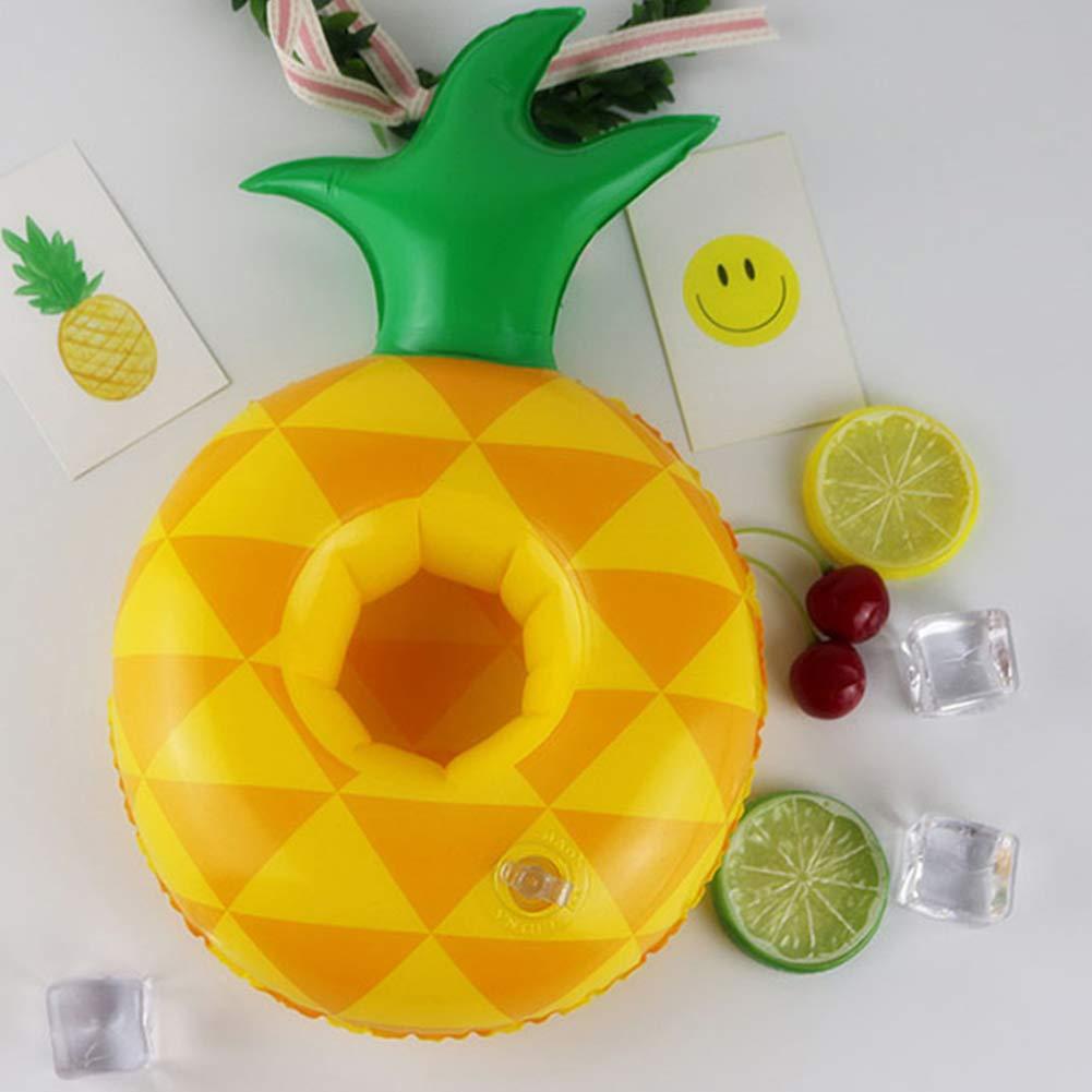 AAGOOD Juguete Inflable 3 Modelos (piña sandía limón) Flotador Inflable de la Nadada del Agua Bebida Costa Holder: Amazon.es: Juguetes y juegos