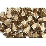 Generic Brass 3/8 OD Short SAE 45 Deg Flare Nut ,Brass Flare Tube Fitting(Pack of 50)