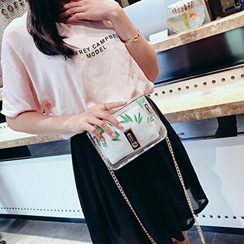 de Mujer Square Shoulder Bolso Pack Yu·casa Blanco Playa de Liu de Transparente Jelly Crossbody Bolso Messenger Bag Bolso Caqui Color Wild creativa Crossbody WqYSnUw0