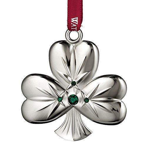 Waterford 2015 Silver Shamrock Christmas Ornament by Waterford