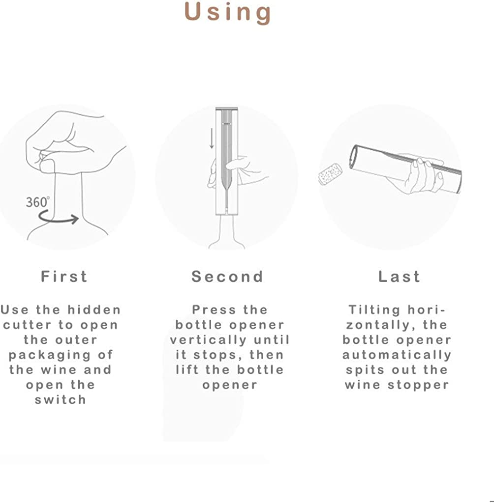 HighlifeS/_Wine Opener,Wine+INF Rechargeable Portable Automatic Wine Bottle Opener