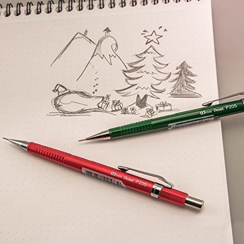 Pentel Sharp Mechanical Pencil, 0.5mm, Black Barrels, 2 Pack (P205BP2-K6)