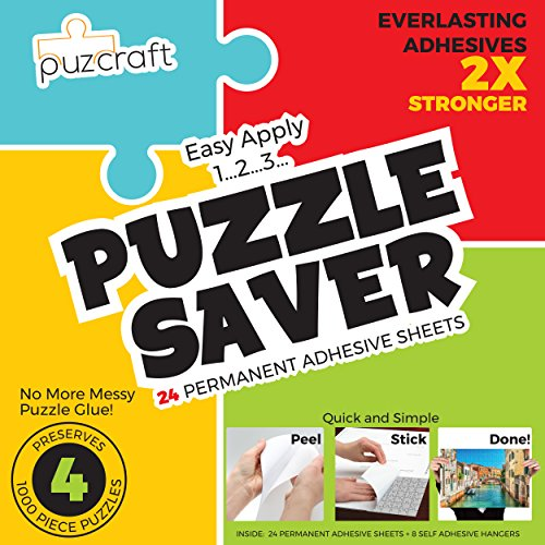 Back Puzzle (Puzzle Saver Adhesive Sheets (24-Pack) Easiest Alternative To Messy Puzzle Glue)