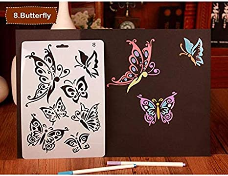 DIY Drawing Plastic Stencils Painting Template Hollow Ruler Scrapbooking