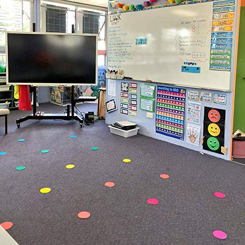 Eximius Power Nylon Carpet for Class Room Preschool Educational Colorful Circle Marker Dots Alphabets 30 Pcs