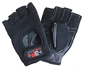 Evolve Fit Women's Exercise Gloves: Weight Training, Powerlifting, Cross training, Biking, WOD (Black, Small)