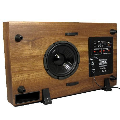 Theater Solutions SUB8SM Slim Subwoofer (Mahogany) by Theater Solutions