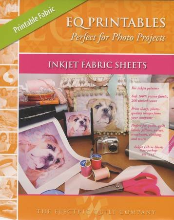 EQ Printables Inkjet Fabric Sheets 8.5
