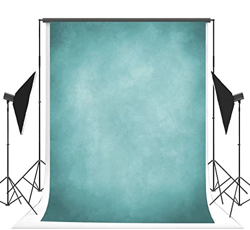 Personalized Photo Booth Backdrop (5x7ft Blue Photography Backdrops Wrinkle free Blue Neutral Photo Background)