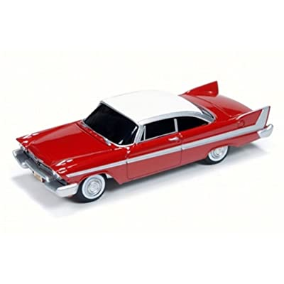 Auto World 1958 Christine Plymouth Fury, Red w/ White AWSS6401 - 1/64 Scale Diecast Model Toy Car: Toys & Games [5Bkhe0501772]