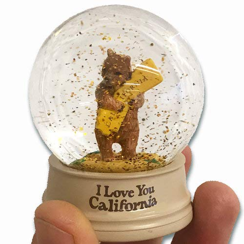 (California Bear Hug Mini Snow Globe)