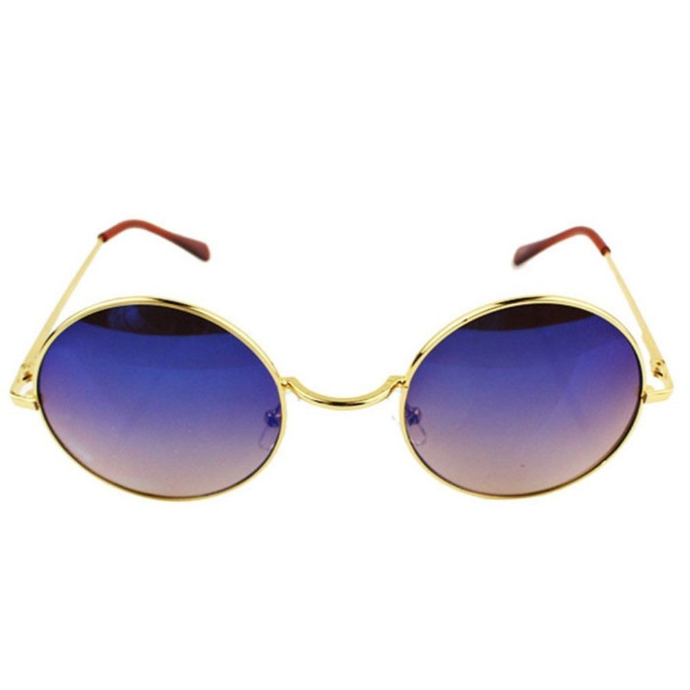 Braceus Unisex Small Retro-Vintage Style Lennon Inspired Round Circle Mirror Lens Sunglasses