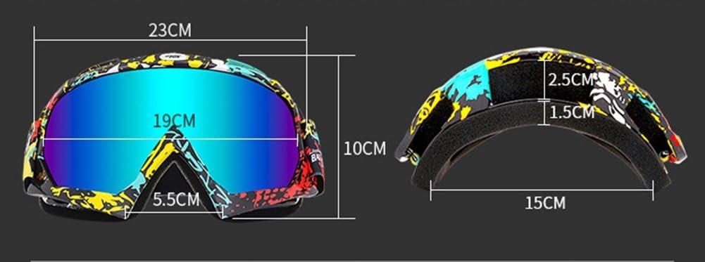 Wonzone Ski Goggles Snow Skiing Snowboarding Motocross Anti-Fog Goggles Dustproof Scratch-Resistant Bendable Unisex Eyewear Goggles
