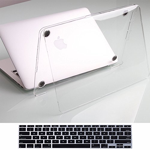 Clear New MacBook Pro 15 Inch case With Touch Bar A1707+Black Keyboard Cover,See Thru Cover Ultra Thin Ultra Slim Hard Protective Shell for Macbook Pro 15 with Retina Display(Newest 2017&2016 Release) by Twinscase