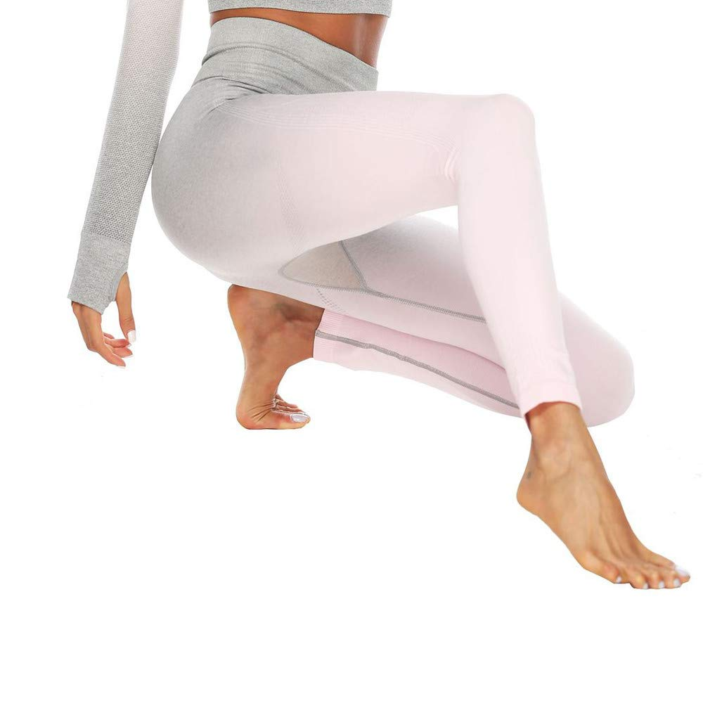 Donna leggings yoga Invernali Caldi Leggings Pantaloni da yoga anticellulite Pantaloni a Vita Alta in Elasticizzato Elasticizzati Casual Pantaloni per Ragazza Rosa caldo//Verde//Grigio//Arancia//Rosa