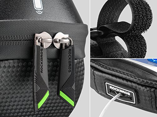 RockBros Bike Phone Bag Waterproof Handlebar Bicycle Phone Case Sensitive Phone Mount Bag Holder For iPhone X 8 7 Plus 6s Below 6.0'' by RockBros (Image #3)