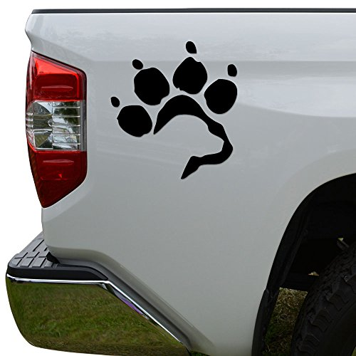 Retriever Print (Labrador Retriever Dog Paw Print Die Cut Vinyl Decal Sticker For Car Truck Motorcycle Window Bumper Wall Decor Size- [6 inch/15 cm] Tall Color- Gloss Black)