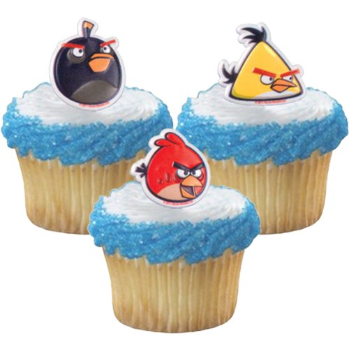 Angry birds birthday party supplies decoration ideas for Angry birds cake decoration kit