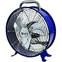 Comfort Zone Decorative Metal Drum Fan, 12