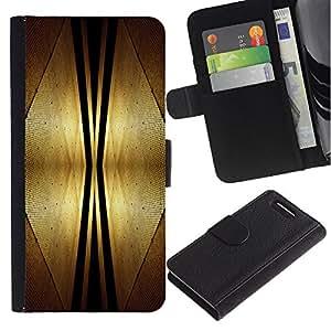 KingStore / Leather Etui en cuir / Sony Xperia Z3 Compact / Espacio Dise?o Art Deco de interiores Estilo Futursim