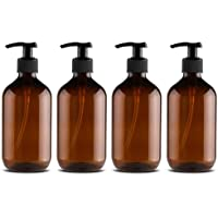 4PCS Empty Lotion Pump Bottles Plastic Shower Gel Bottle 500ML Hand Container Dispenser Spray
