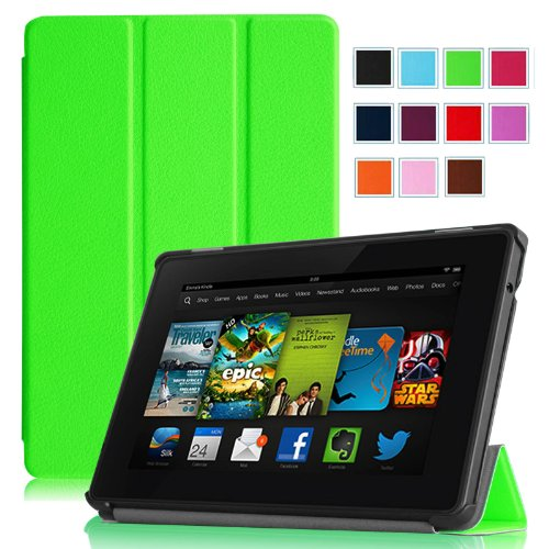 "Fintie Amazon Kindle Fire HD 7"" (2013 Old Model) SmartShell Case Cover Ultra Slim Lightweight with Auto Sleep / Wake Feature (will only fit Amazon Kindle Fire HD 7, Previous Generation - 3rd) - Green"