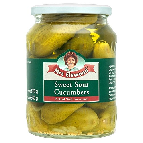 Mrs Elswood Sweet & Sour Cucumbers (670g) - Pack of ()