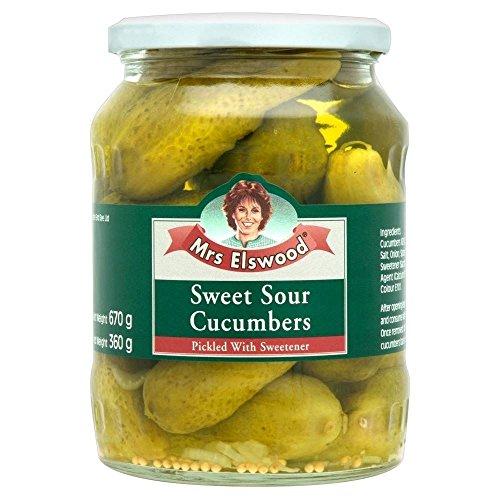 Sweet Slim Sweetener (Mrs Elswood Sweet & Sour Cucumbers (670g) - Pack of 6)