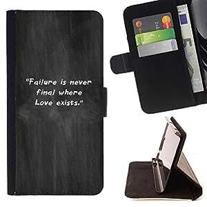 BullDog Case - FOR/HTC One M9 / - / grey mist smoke failure quote inspiring /- Monedero de cuero de la PU Llevar cubierta de la caja con el ID Credit Card Slots Flip funda de cuer