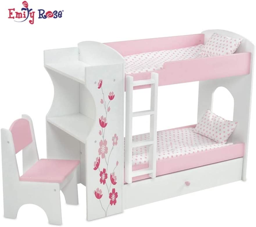 Amazon Com Emily Rose 18 Inch Doll Bed Furniture For American