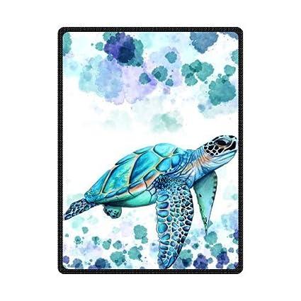 amazon com custom funny sea turtle pattern bed sofa soft throw
