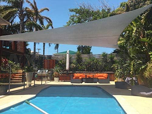 AXT SHADE Toldo Vela de Sombra Triangular 3, 6 x 3, 6 x 3, 6 m, protección Rayos UV Impermeable para Patio, Exteriores, Jardín, Color Gris Claro: Amazon.es: Jardín