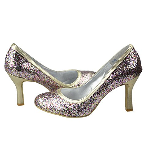 Kevin Fashion MZ1210 Women's Round Toe Glitter Bridal Evening Wedding Formal Party Evening Bridal Prom Pumps Shoes B01D60FV4K Shoes 591120