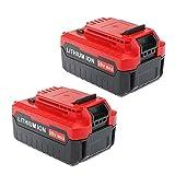Enegitech 20V MAX 4.0A Lithium Ion Battery Replacement for Porter Cable PCC685L PCC680L PCC682L PCC685LP ( 2 Pack)