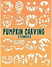 Pumpkin Carving Stencils Book | Spooky Halloween Themed Witches Animal Haunted House Scary Faces Templates: 38 Jack O Lantern Stencil For Scary Halloween Decor
