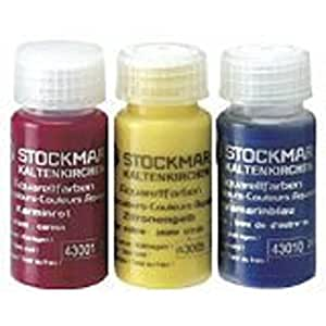 Stockmar Watercolor Paint: 3 Primary Color Assortment 20 ML (Carmine Red, Lemon Yellow, Ultramarine Blue)