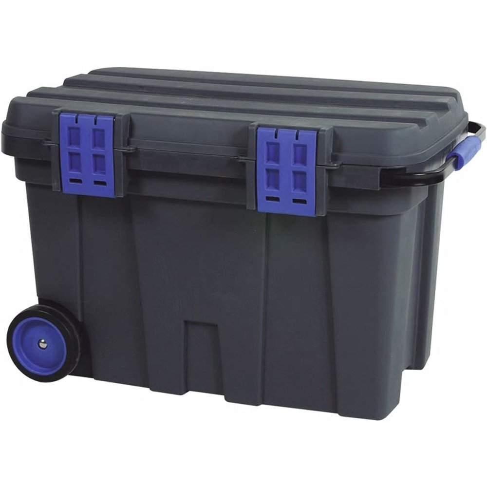 raaco 715720'Tool chest 100' Storage Box, Black/Blue