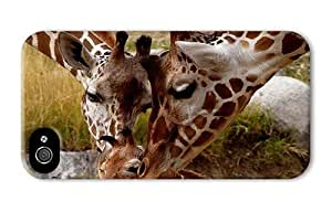 Hipster fashion iPhone 4 case Giraffe Parental Love PC 3D for Apple iPhone 4/4S
