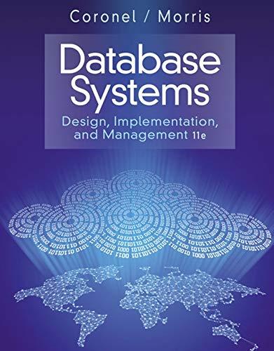 (Database Systems: Design, Implementation, & Management)