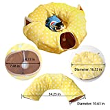 Cat Tunnel with Central Mat for Cat Dog,Soft Plush