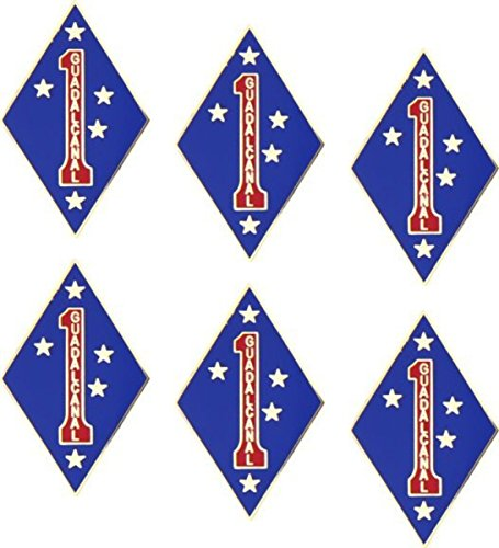 1st Marine Division 'GUADALCANAL' Military Lapel Pin 6 ()